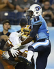Washington Redskins Richard Crawford intercepts a pass intended for Tennessee Titans Michael Preston in the third quarter in a preseason NFL football game against the Tennessee Titans on Aug. 8, 2013, in Nashville, Tenn. (AP Photo/ Mark Zaleski)