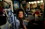 Menifee, Calif., school district trustee Rita Peters of Quail Valley is preparing to be featured on a segment of Rachel Ray's show featuring America's coolest bathrooms. One of hebathrooms has a Betty Boop theme. (The Press-Enterprise/ Mark Zaleski)