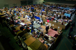 320 evacuees have been living in makeshift cardboard partitions at the gym since their homes were destroyed when a 9.0 earthquake and tsunami devastated Sendai, Japan. (The Press-Enterprise/ Mark Zaleski)