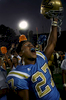 Arron Ware of UCLA celebrates after the Bruins upset the USC Trojans 13-9 in the last game ofthe season at the Rose Bowl in Pasadena, Calif. (The Press-Enterprise/ Mark Zaleski)