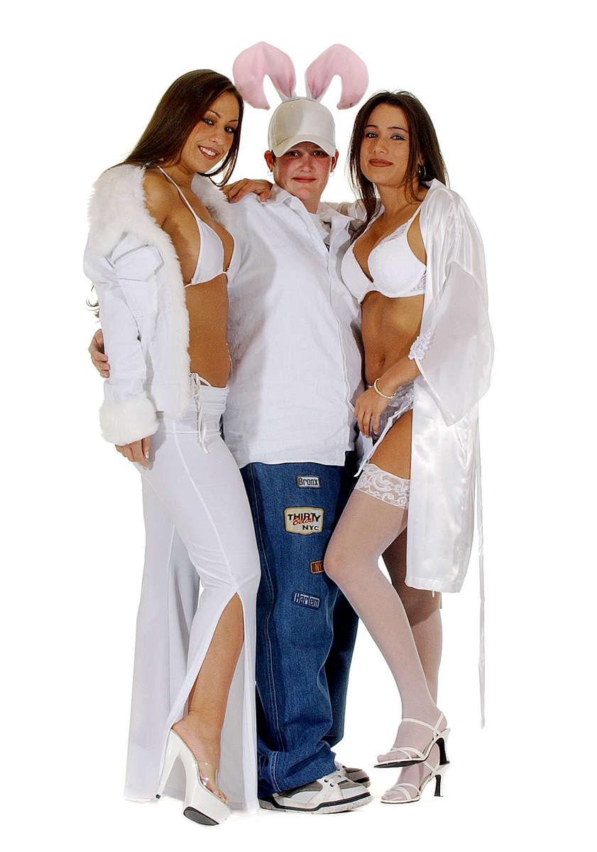 White Party participants Stephany Hernandez, left, of Las Vegas, Nevada, Christina Dalgleish, 26, Mission Viejo, Calif., and Breana Blazo, 21, of Las Vegas, Nevada. (The Press-Enterprise/ Mark Zaleski)