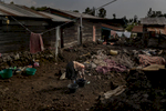 Africa, Democratic Republic of Congo, North Kivu, Goma. 24/01/2017. A glimpse of Ndosho, a tough neighborhood on the outskirts of Goma. Women are a driver for Congolese society, because it is the women who perform the most varied tasks in order to support their families, and they are also responsible for raising children. More often than not, rape goes unpunished in the Congo. Rape victims totalled 15,000 in 2015 alone.