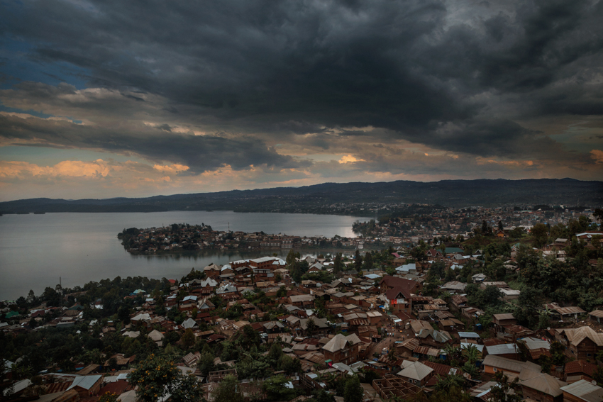 Africa, Democratic Republic of Congo, South Kivu, Bukavu. 07/02/2017. A view from above of teh city of Bukavu. The Democratic Republic of the Congo is an area marked by lethal conflict, where war has killed over six million people since 1945. It is the richest country in the world in terms of resources, yet its people are among the poorest on the planet.
