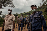 Africa, Democratic Republic of the Congo, North Kivu; Beni, 28th July. At 13.35, a call arrives from the security commission to say that 29-year-old Kambale Mandefu has died in the village of Mialeke, on the outskirts of Beni. A team from the civil protection service goes to the village to uplift the body, decontaminate the home and make the area safe. The army oversees all the public security operations to prevent members of the local community attacking the healthcare operators and accusing them of bringing the disease to the village.