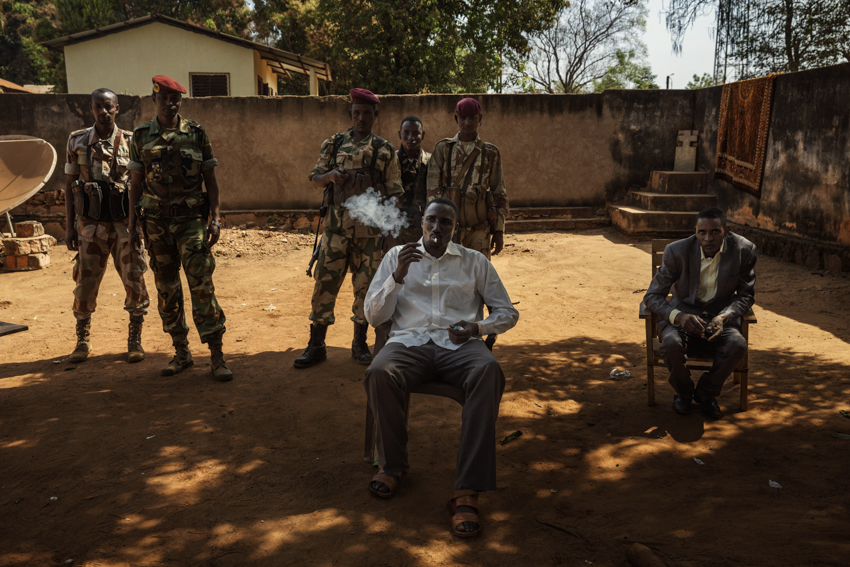 Africa, Central African Republic, Bambari. General Ali Darassa, leader of the UPC (Unité pour la Centrafrique) faction of the Ex-Seleka rebels, in his stronghold in Bambari, in the east of the country. The Seleka Muslim rebel group, created in 2012 from a number of armed factions operating in the north-west of the Central African Republic, sparked the conflict by overthrowing the then President François Bozize and persecuting the Christian population. 6th February 2015©Marco Gualazzini