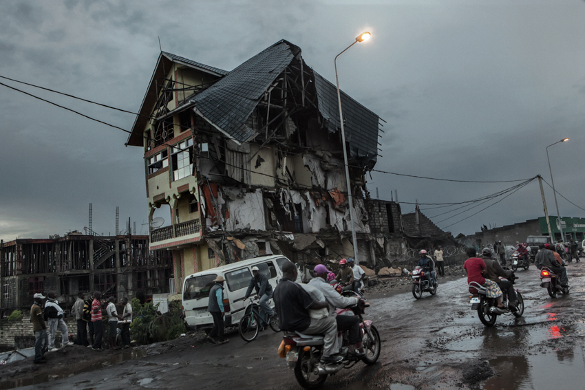 Africa, Democratic Republic of Congo; North Kivu, Goma. 19th October 2012. A view of the city.