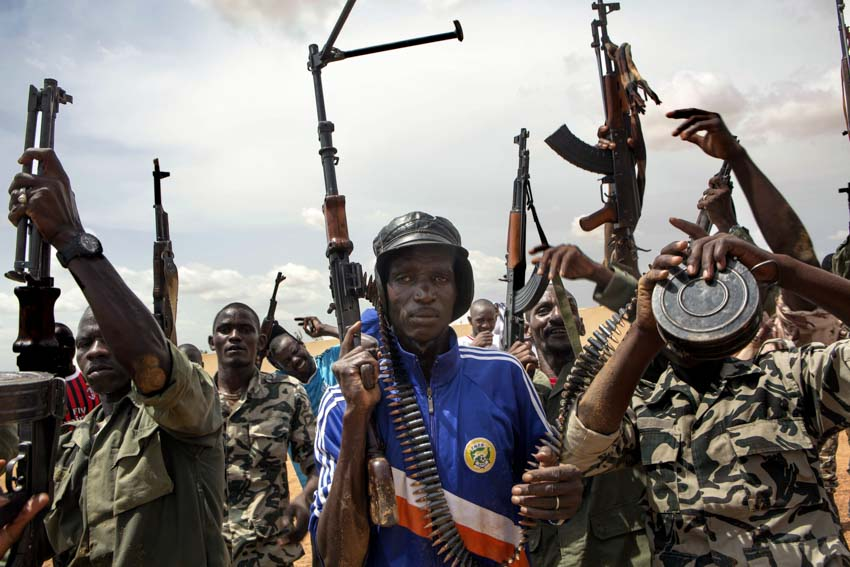 "Africa, Mali, Mopti. Members of the militia Ganda Koy ""Lords of the Land"". ©Marco Gualazzini/ New York Times"