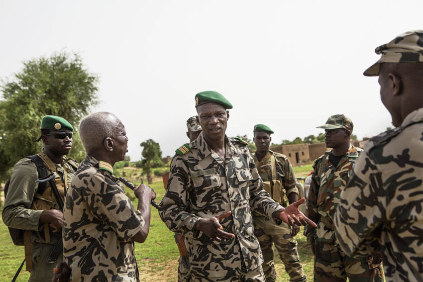 Africa, Mali, Mopti. The commander of the army forces in Mopti region, Didier Dacko, is seen at the front line in Konna.©Marco Gualazzini for The New York Times