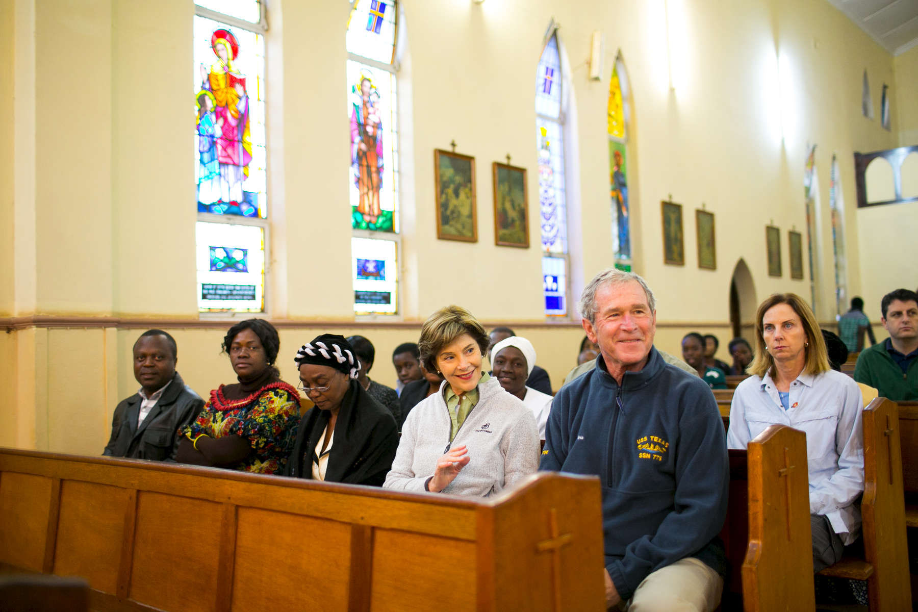 CATHEDRAL OF ST. THERESA CATHOLIC CHURCH SERVICE in Livingston, Zambia. The trip of President George W. Bush and Mrs. Laura Bush to Zambia and Tanzania on June 29, 2013. Photo by Paul Morse