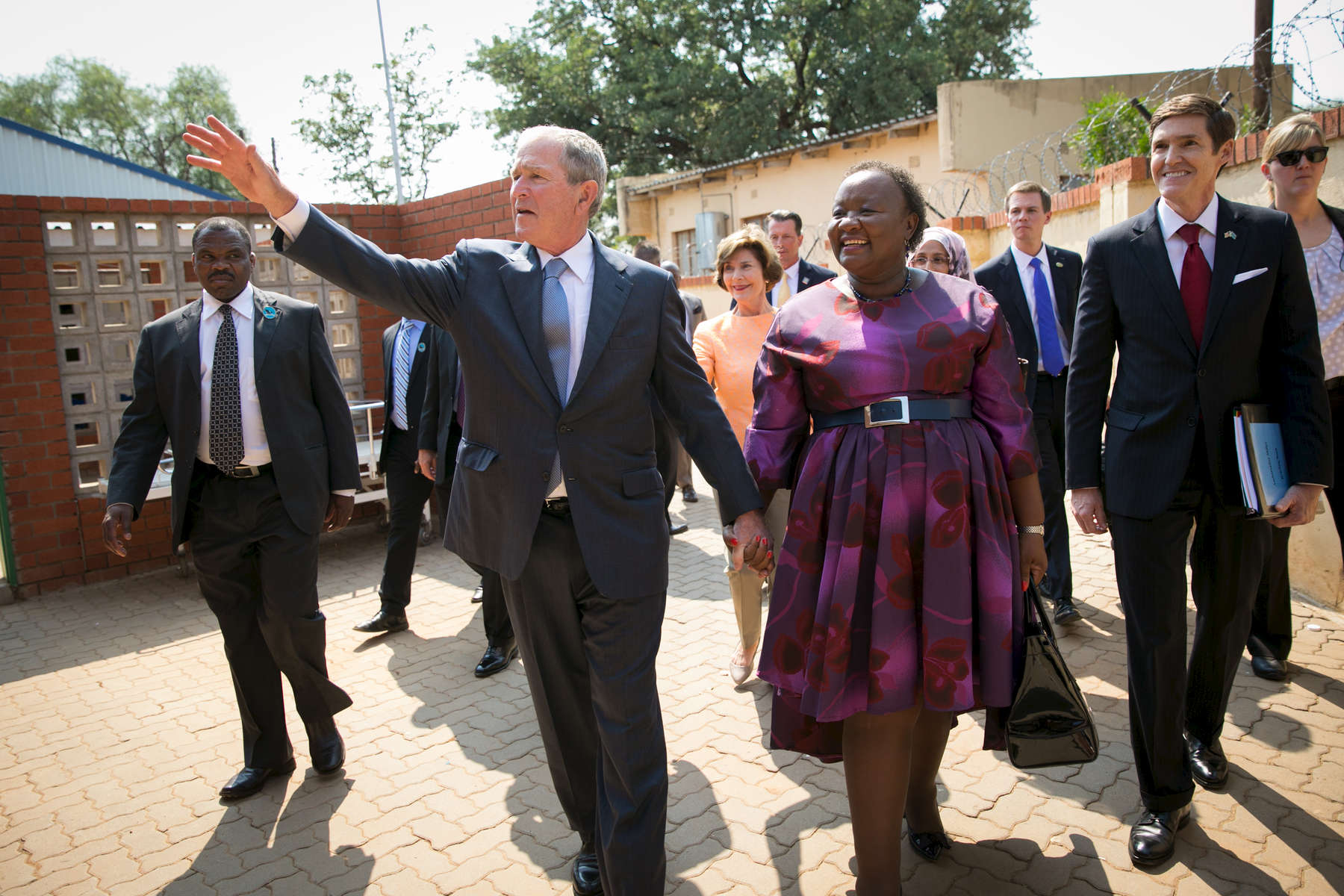 President and Mrs. Bush in Africa on April 4, 2017. Photo by Paul Morse