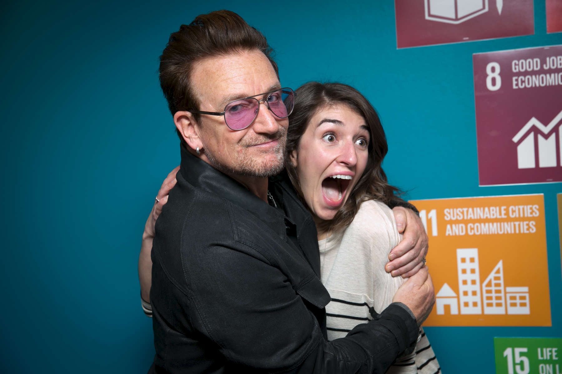 Bono visits One DC offices on April 11, 2016.