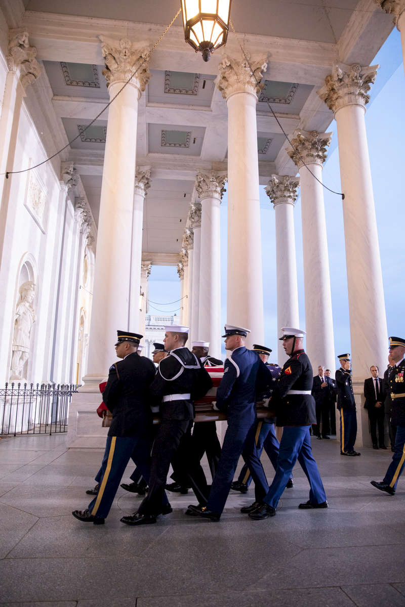 George H.W. Bush funeral services on December 3, 2018. Photo by Paul Morse