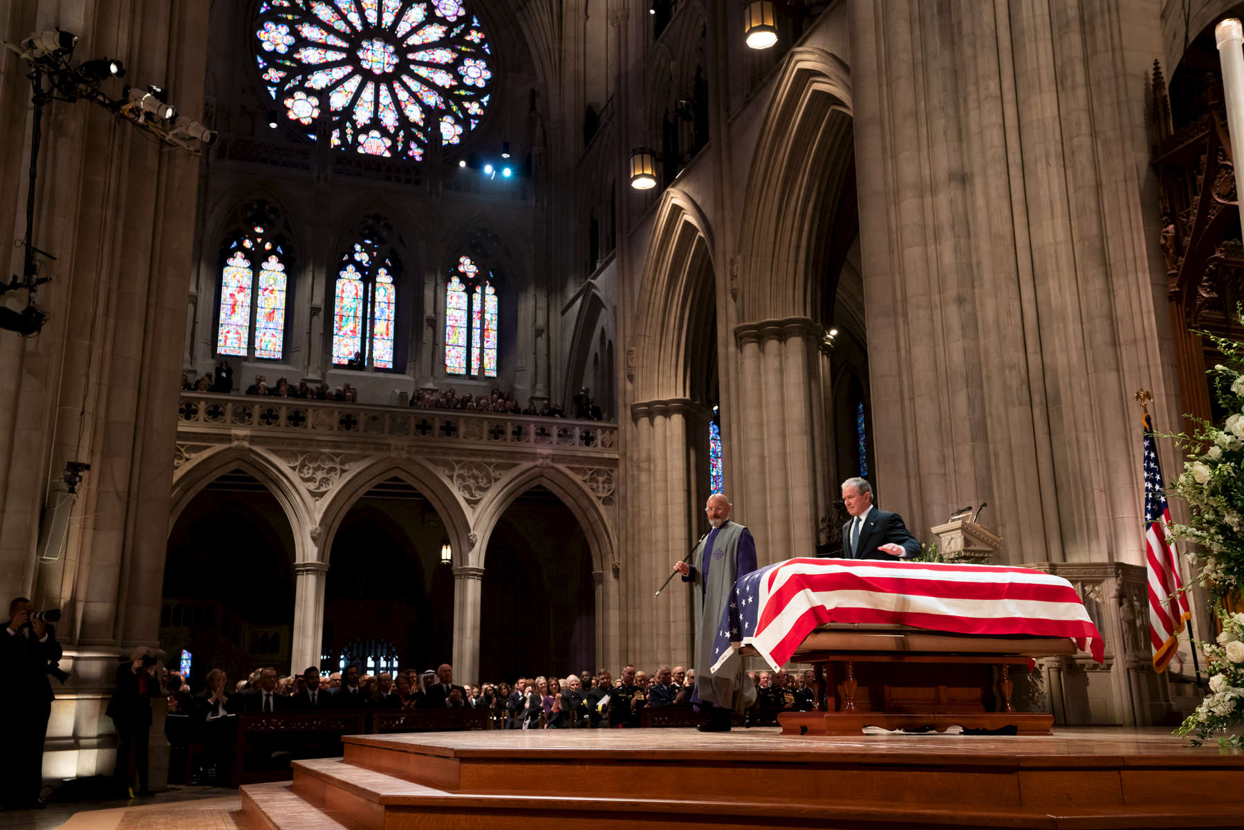 George H.W. Bush funeral services on December 5, 2018. Photo by Paul Morse