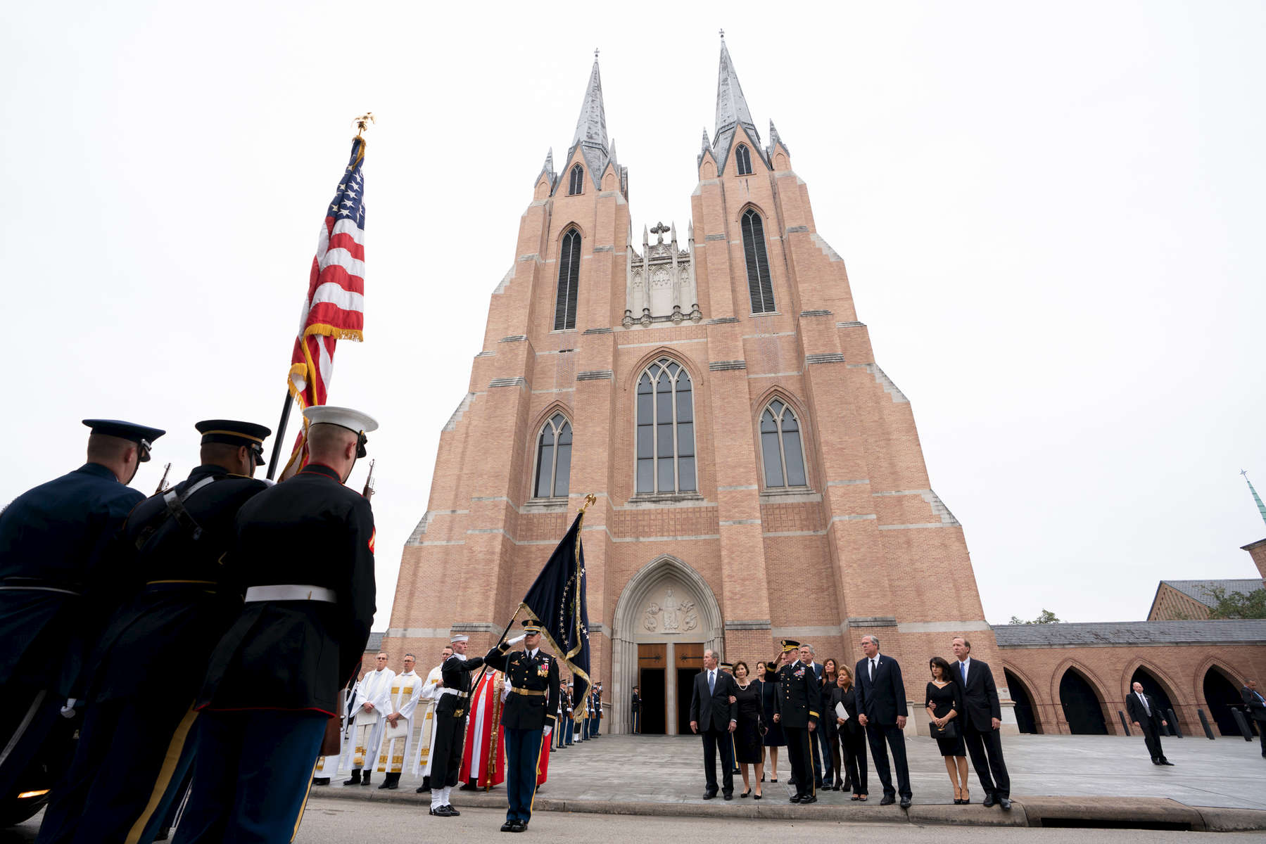 George H.W. Bush funeral services on December 6, 2018. Photo by Paul Morse