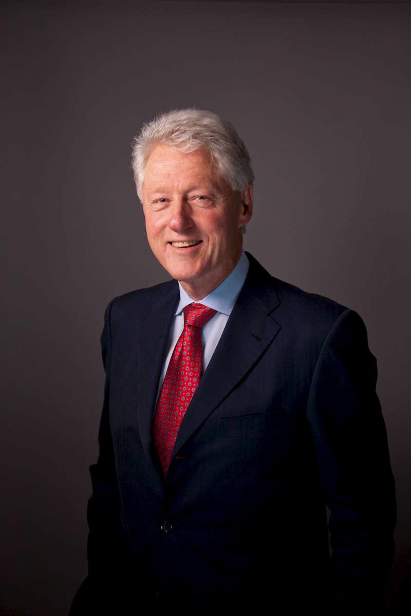Bill Clinton and Tina Brown on December 8, 2011.