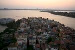 Scenic view of Hanoi, Vietnam, skyline taken from the Sheraton Hanoi Hotel.  Sunset. POW
