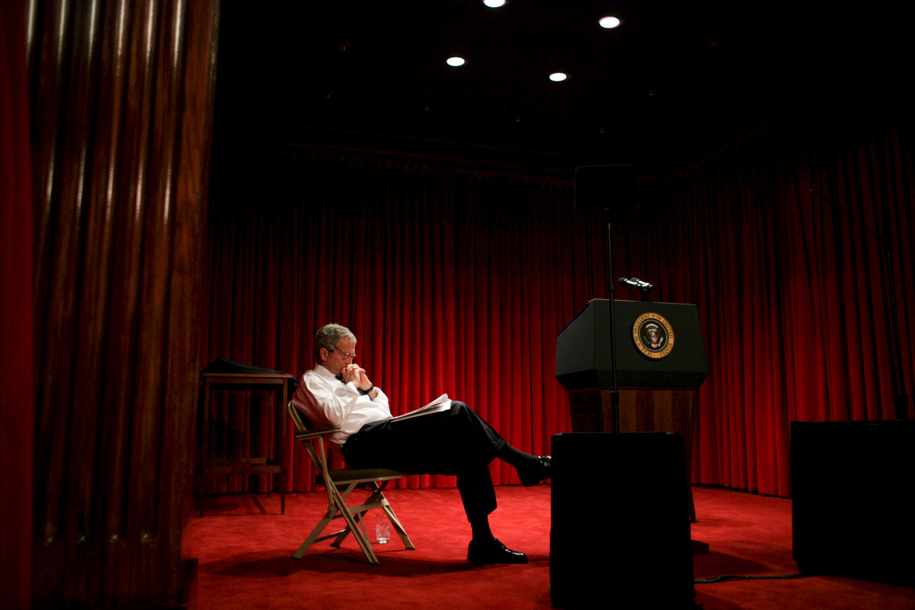 President Bush: State of the Union Speech Preparation. Family Theater.