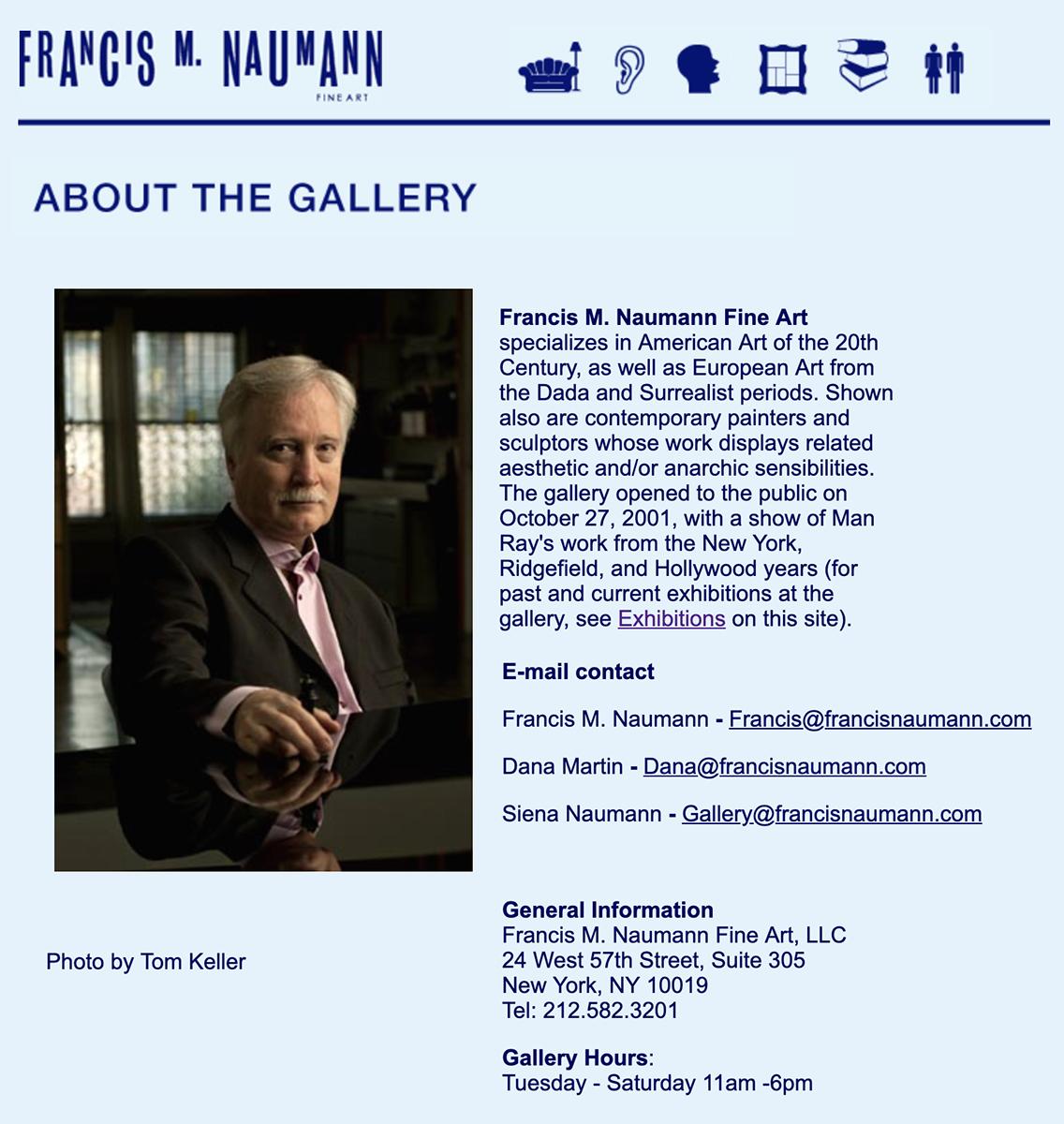 Francis M Naumann Fine Art