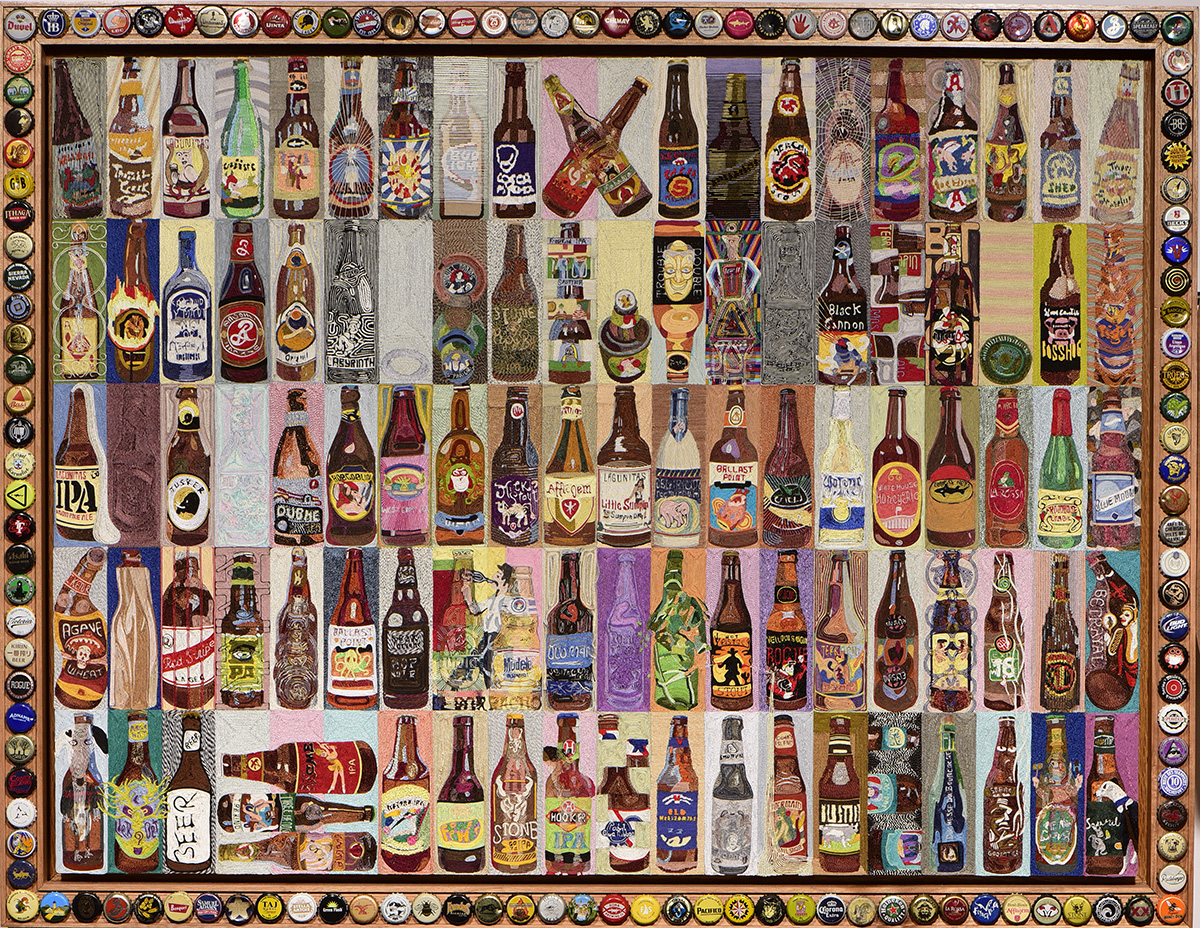 100 Bottles of Beer on the Wall  30 X 40  2014
