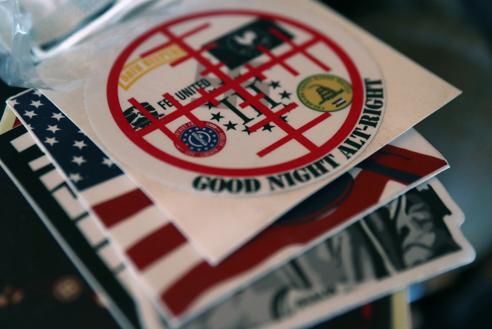 Stickers sent to the ranchers can be seen in their living room.