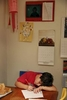James Kaplan, 8, does his homework at the kitchen table Nov. 3, 2016 in Berkeley, Calif. Above him, a portrait he drew of a gorilla is seen posted on the wall. Before he came out to his parents, he used to say that he was half boy, half girl and half gorilla. He described his emotions inside feeling like a {quote}wild gorilla{quote}.