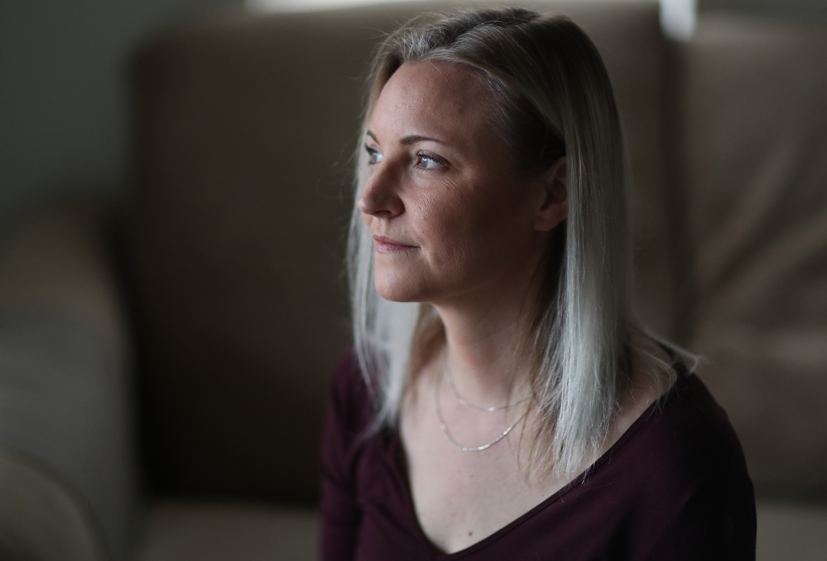 Heather Martin, survivor of the Columbine high school shooting and founder of The Rebels Project is pictured February 16, 2019 at her home in Centennial, Colorado, US.
