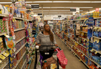 Sherrie Lawson, a survivor of the Washington Navy Yard shooting, goes grocery shopping February 17, 2019 in Denver, Colorado, US. Lawson still occasionally struggles shopping in places that have aisles she can't easily see the exit over, they can remind her of the cubicles in her workplace during the shooting.