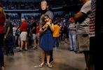 Thomas Musolino wears a mask of U.S. President Donald Trump while holding his daughter Gianna Musolino, 10, during a Trump campaign rally at Mohegan Sun Arena in Wilkes-Barre, Pennsylvania, U.S., August 2, 2018. Picture taken August 2, 2018. REUTERS/Leah Millis TPX IMAGES OF THE DAY