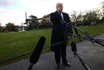 U.S. President Donald Trump speaks to the news media while walking to board Marine One to depart for travel to Mar-a-Lago from the White House in Washington, U.S., November 20, 2018. REUTERS/Leah Millis