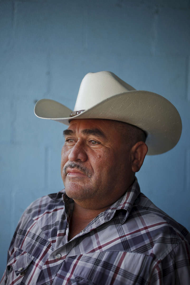 Field worker Francisco Velasquez, 54, pictured April 11, 2014 in Mendota Calif. Velasquez has lived in the U.S. for 20 years and though he has been able to find occasional work, he says there's a lot less work this year than there has been in previous years. He used to send $100 back to his family, now he can only send $50 a month. The historic drought combined with zero percent water allocation for farmers in the San Joaquin Valley means that many farmers are fallowing fields and many field workers are unemployed. In Mendota, a rural city of about 11,000 people about 35 miles west of Fresno, the jobless rate was at 36 percent in April 2014.