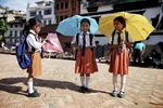 nepal-kathmandu-parasol-3-school-girls-portrait-photo-by-cyril-eberle-IMG_5977