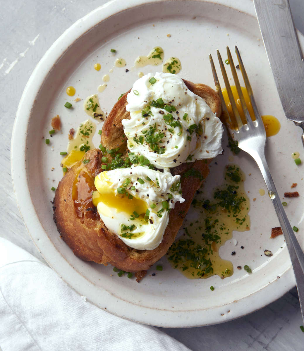 Poached eggs,