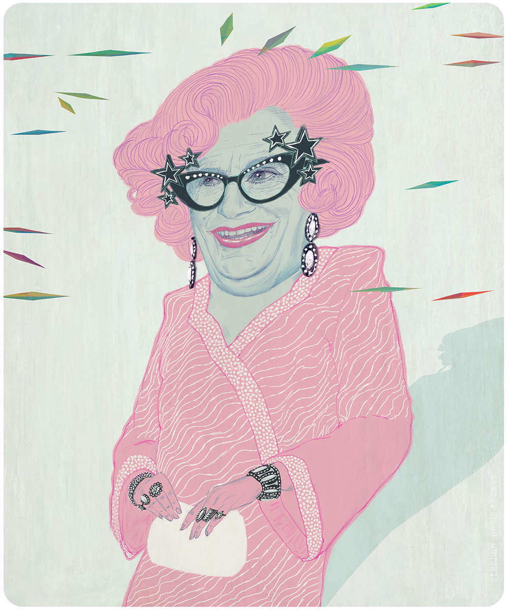 Dame Edna Everage a.k.a Barry Humphries