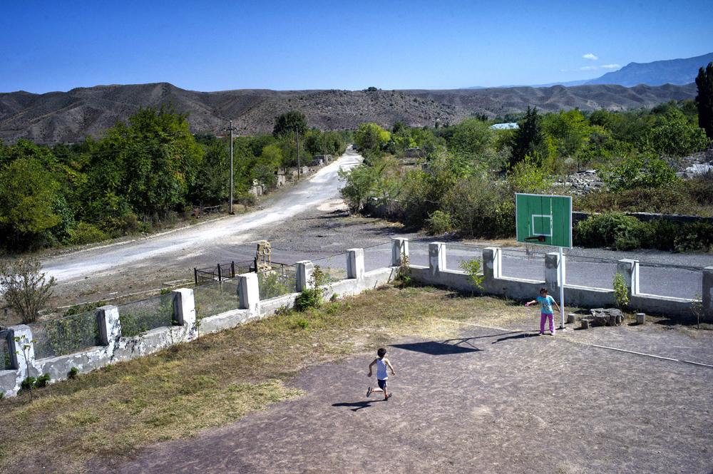 Schoolyard - Kovsakan, Nagorno-Karabakh