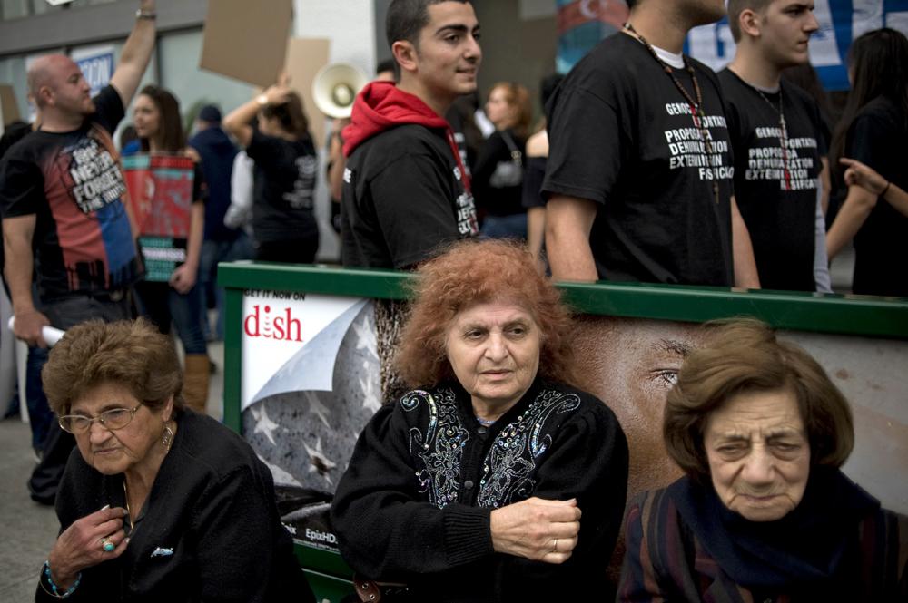 Turkish Consulate Protest - Los Angeles, California.