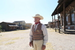 Frank Brown, only habitant and unofficial mayor of Mescal, the sister site of Tuscon Old Studio, in Arizona, where many western films have been shot.