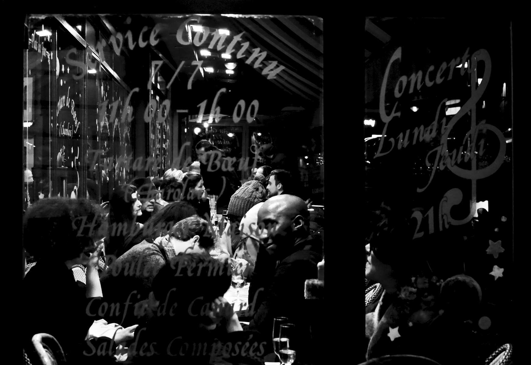 People eat at the terrace of the restaurant {quote}le Saint-Jean,{quote} located in Montmartre, located in the 18th district of Paris, on December 20, 2015, Paris, France.  It is believed that  this district was also targeted during the November 13 terrorist attacks. More quiet since the attacks, Montmartre is still lively with a lot of parisiens and tourists enjoying the neighborhood.