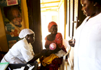 A child is being vaccinated at the medical facility of Kuchigoro in Abuja, Nigeria.