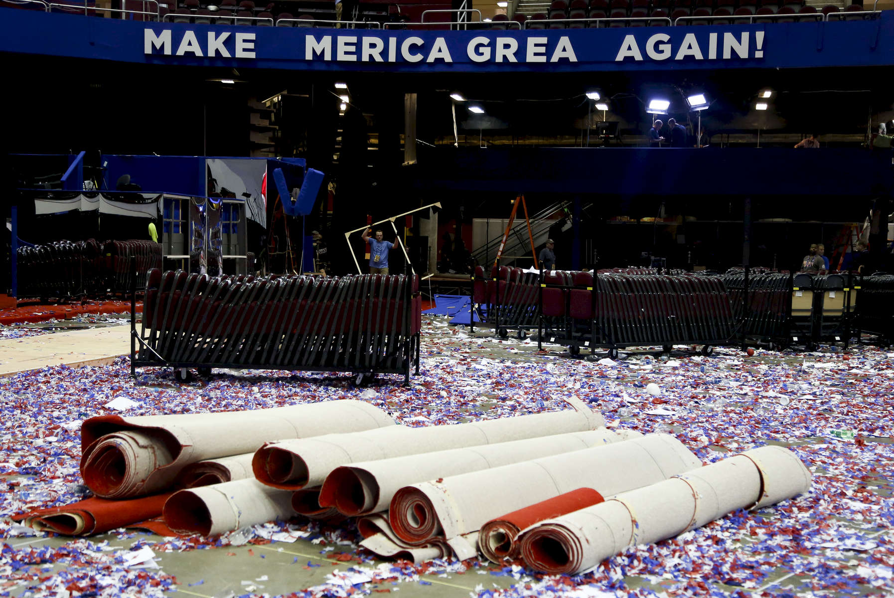 End of the Republican convention.