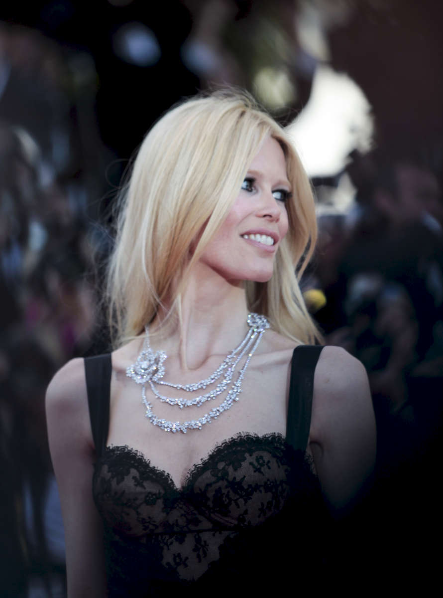 Model Claudia Schiffer  arrives at the screening of 'This Must Be The Place' at the Palais des Festivals during the  Cannes Film Festival  in Cannes, France.