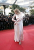 Singer Courtney Love arrives at the 'This Must Be The Place'' screening during the Cannes Film Festival at the Palais des Festivals  in Cannes, France.