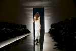 A model walks the runway during the Naeem Khan fashion show, at the New York fashion week, in New York.