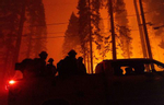 The Caldor fire burns in Echo Lake on August 30, 2021, in  the Eldorado forest,  California. The Caldor Fire has burned almost 200.000 acres, destroyed over 660 structures and is currently 16 percent contained.