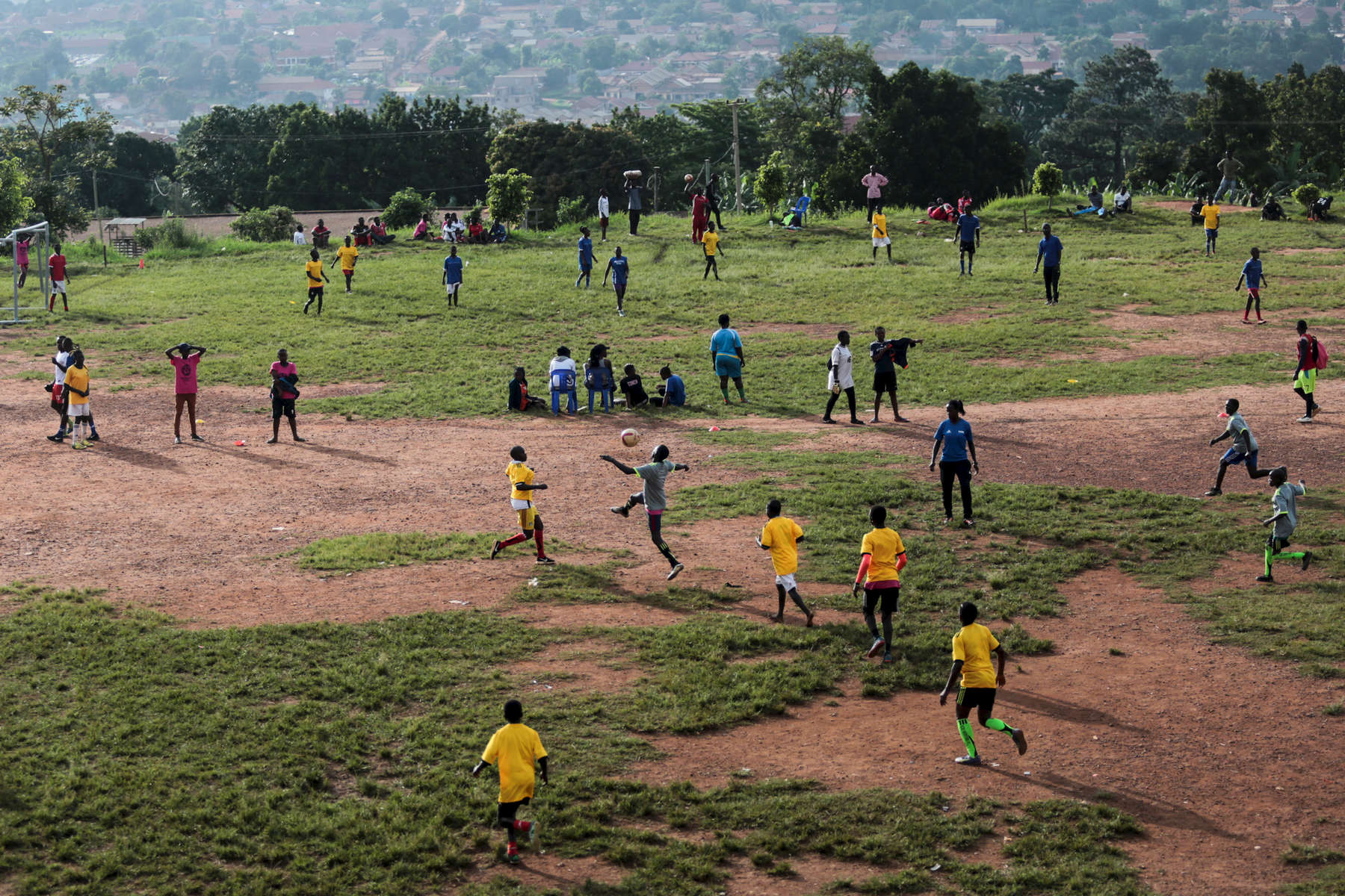 Congolese refugees play soccer games during the {quote}Women take the Lead{quote} festival, a soccer event for Congolese refugee youth in Kampala, Uganda on December 13, 2018.