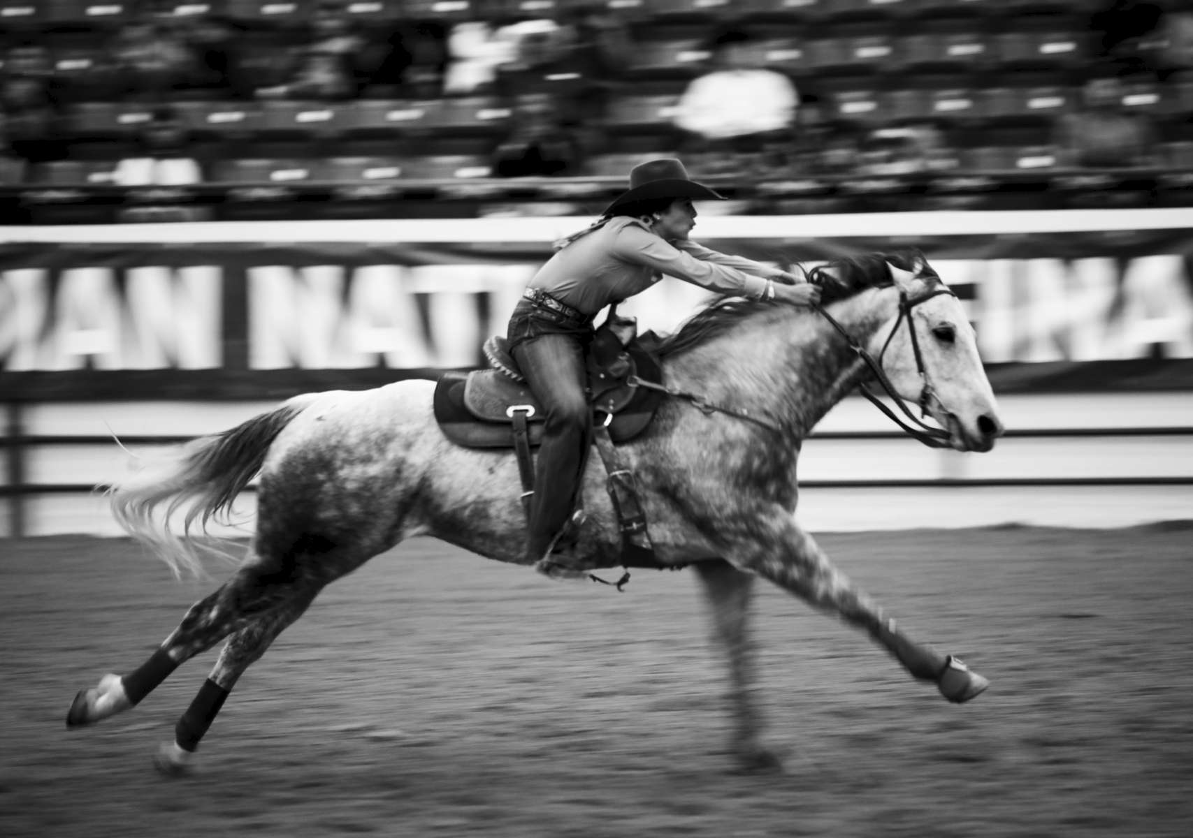 Janae Devine  participates in the Junior Barrel Racing during the Indian National Finals Rodeo, on October 25, 2019 in Las Vegas, Nevada.