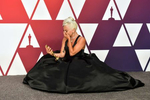 Lady Gaga, winner of the award for best original song for {quote}Shallow{quote} from {quote}A Star Is Born{quote}, gets emotional in the press room at the Oscars on Sunday, Feb. 24, 2019, at the Dolby Theatre in Los Angeles. (Photo by Jordan Strauss/Invision/AP)