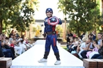 IMAGE DISTRIBUTED FOR DISNEY CONSUMER PRODUCTS - A model dressed up as Marvel\'s Captain America is seen at Disney Consumer Products\' VIP Halloween Fashion Show on Wednesday, Oct. 1, 2014 in Glendale, Calif. (Photo by Jordan Strauss/Invision for Disney Consumer Products/AP Images)