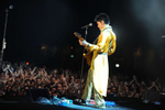 (EXCLUSIVE COVERAGE) Prince performs during his {quote}Welcome 2 Europe{quote} tour at the Umbria Jazz Festival Grounds on July 15, 2011 in Perugia, Italy.(Jordan Strauss/ WireImage for NPG Records 2011)