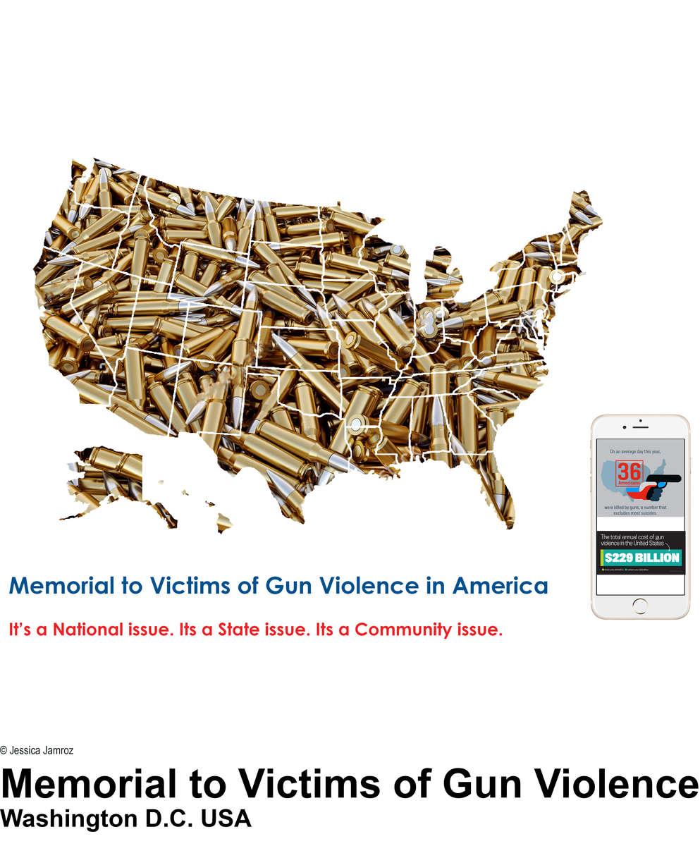 Memorial to Victims of Gun Violence in America