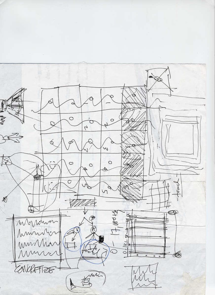 September 2001. Fabrication Diagram for the Echocardiogram (sound machines) World Trade Center non-site installation.
